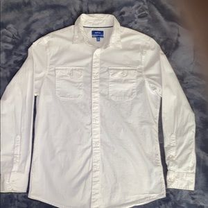 Apt 9 white long sleeve dress shirt